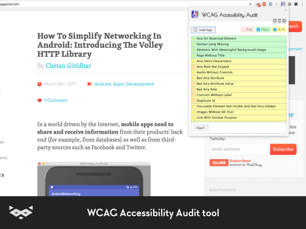 WCAG Accessibility Audit tool
