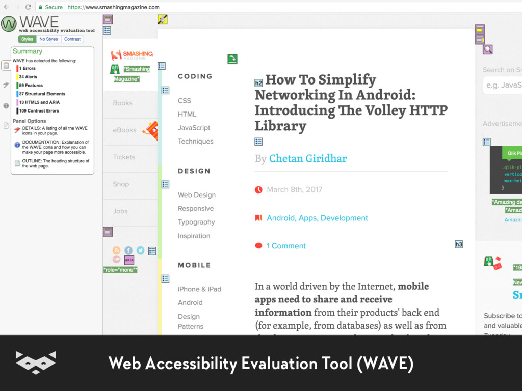 Web Accessibility Evaluation Tool (WAVE)