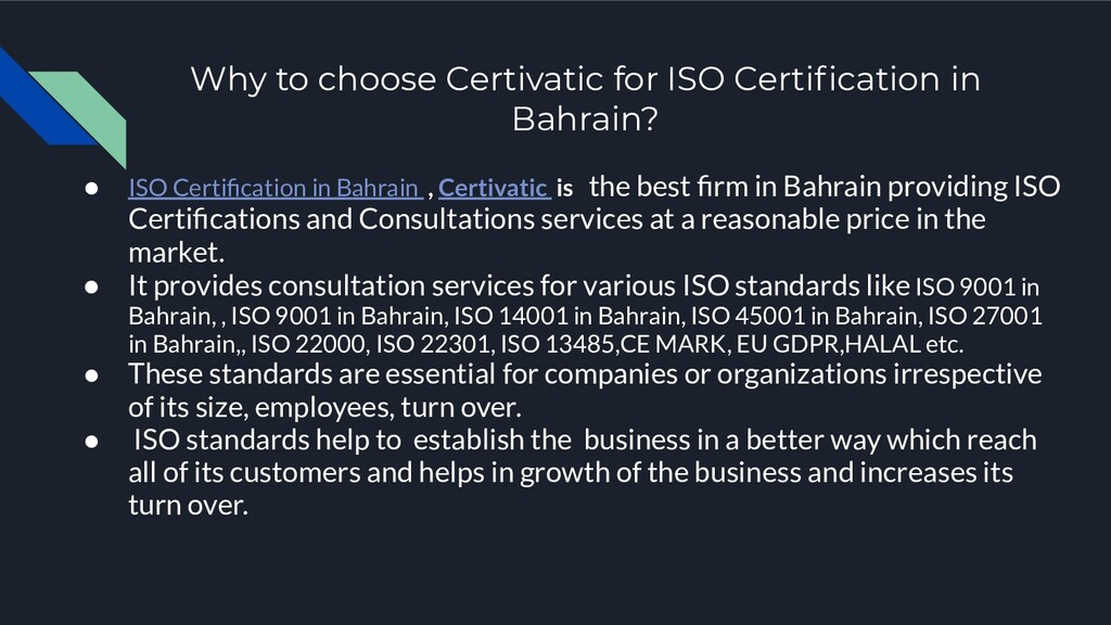 Why to choose Certivatic for ISO Certification i...