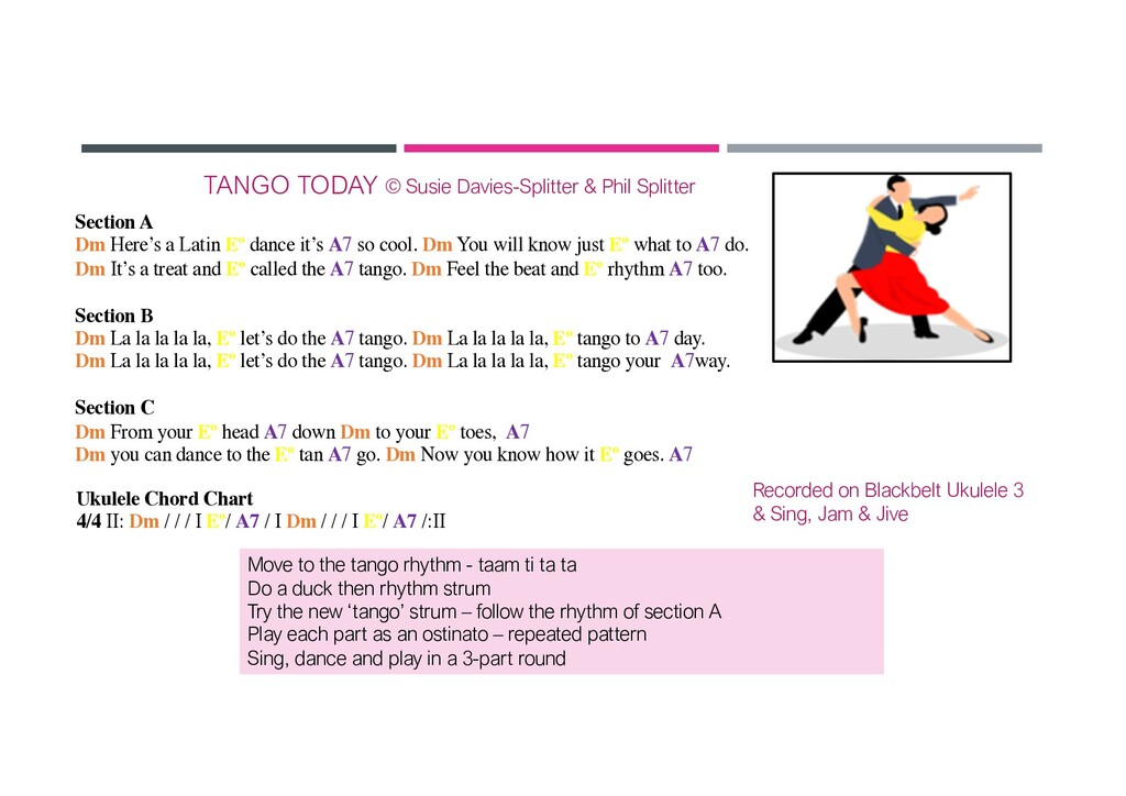 TANGO TODAY Move to the tango rhythm - taam ti ...