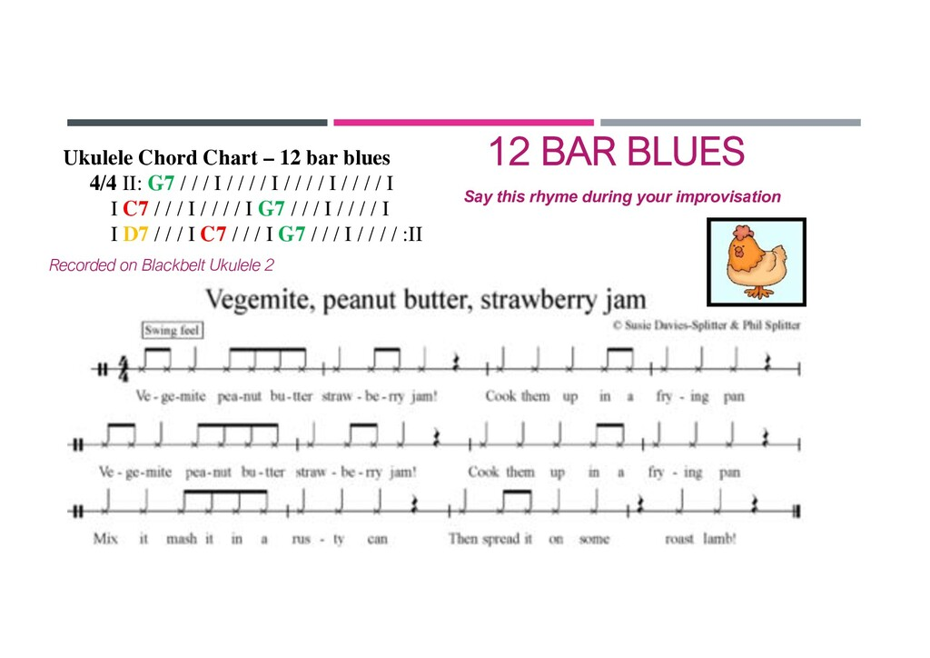 Say this rhyme during your improvisation Ukulel...