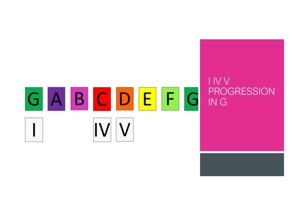 I IV V PROGRESSION IN G