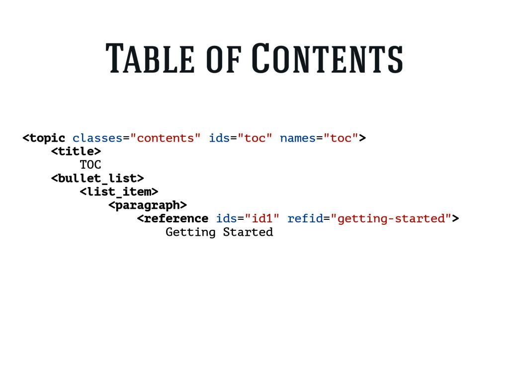 """<topic classes=""""contents"""" ids=""""toc"""" names=""""toc""""..."""