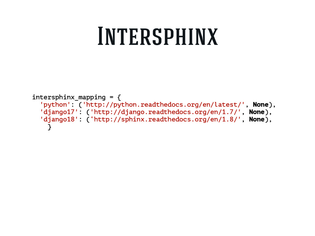 intersphinx_mapping = { 'python': ('http://pyth...