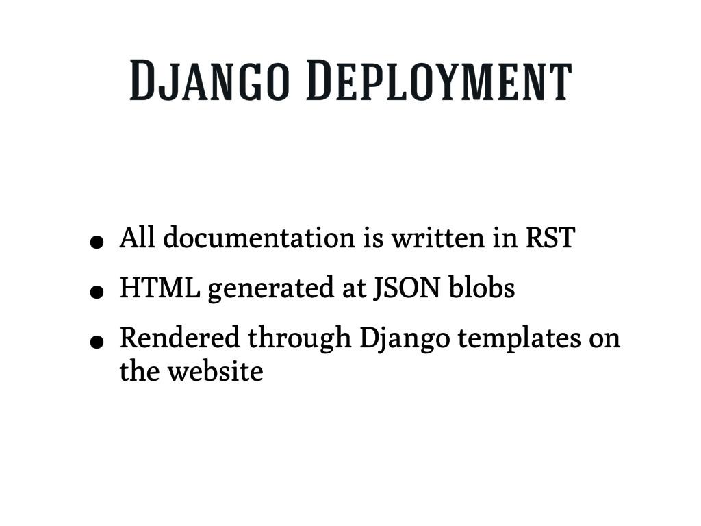 Django Deployment • All documentation is writte...