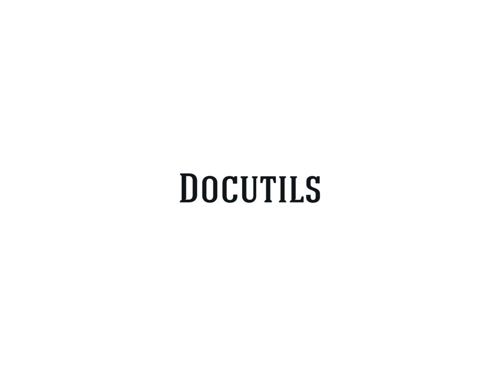 Docutils