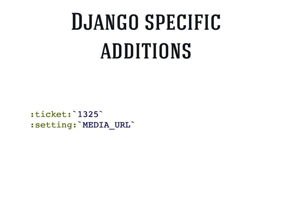 :ticket:`1325` :setting:`MEDIA_URL` Django spec...