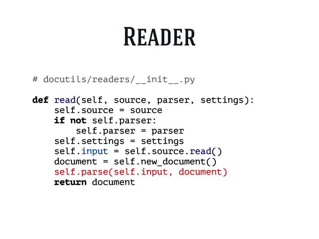 # docutils/readers/__init__.py def read(self, s...