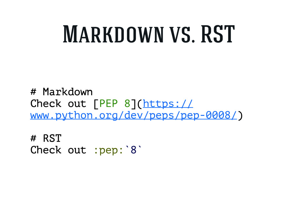 # Markdown Check out [PEP 8](https:// www.pytho...