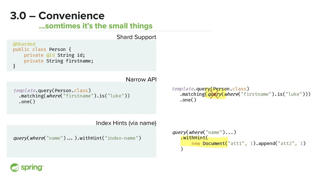 3.0 – Convenience ...somtimes it's the small th...