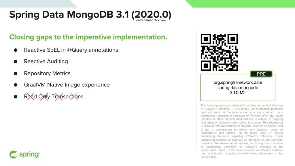 Spring Data MongoDB 3.1 (2020.0) Closing gaps t...