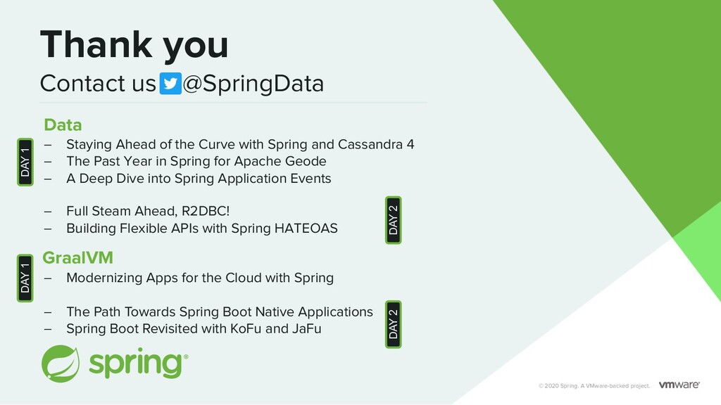 © 2020 Spring. A VMware-backed project. Thank y...