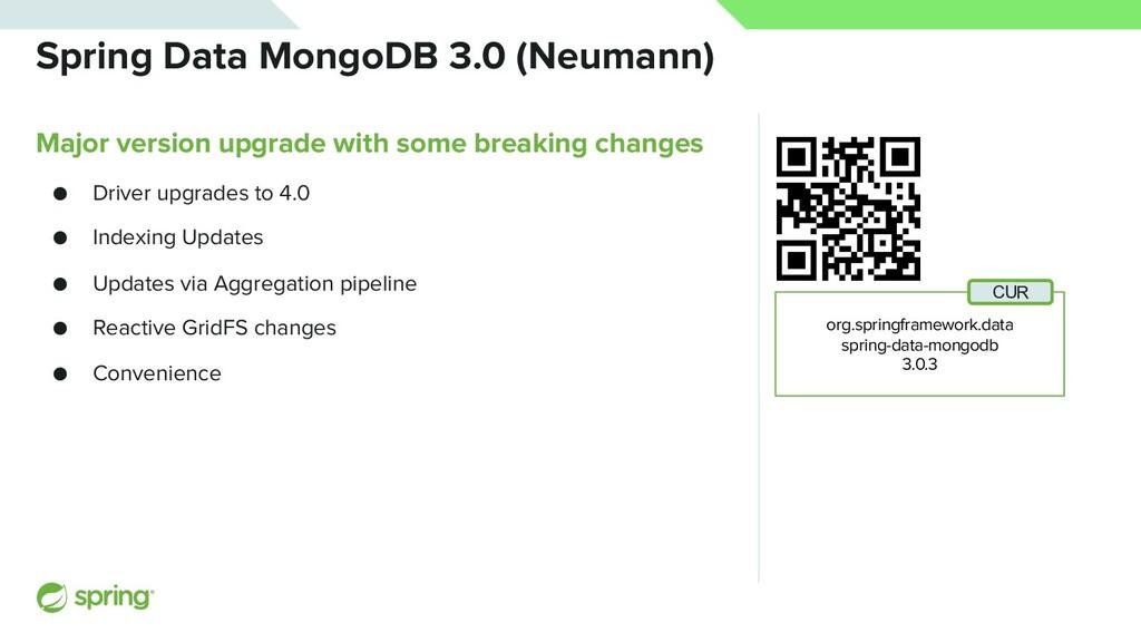 Spring Data MongoDB 3.0 (Neumann) Major version...