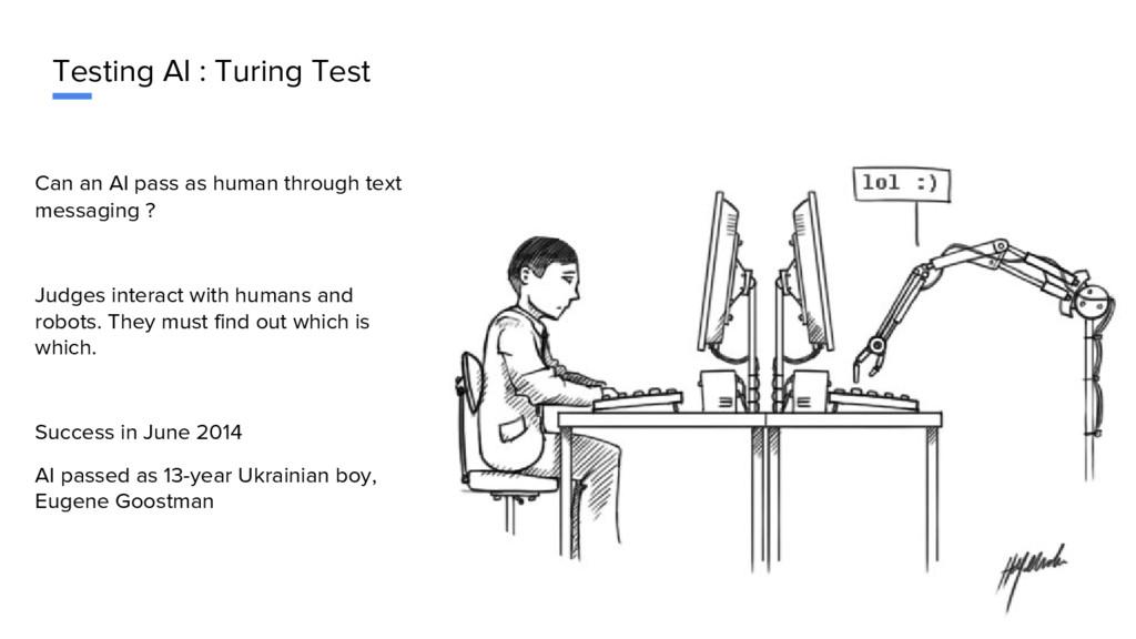 Testing AI : Turing Test Can an AI pass as huma...