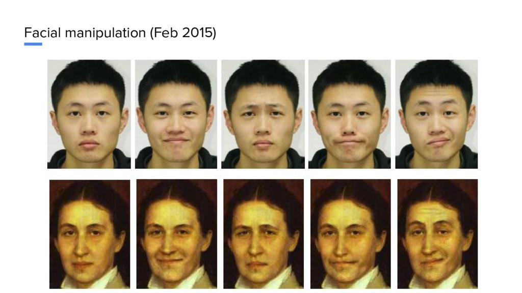 Facial manipulation (Feb 2015)