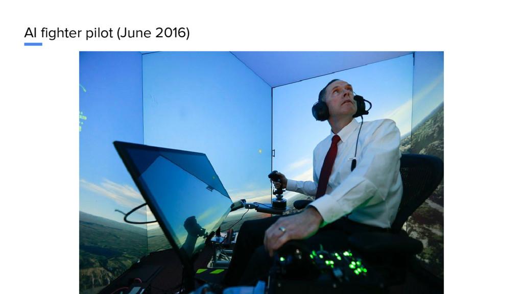 AI fighter pilot (June 2016)