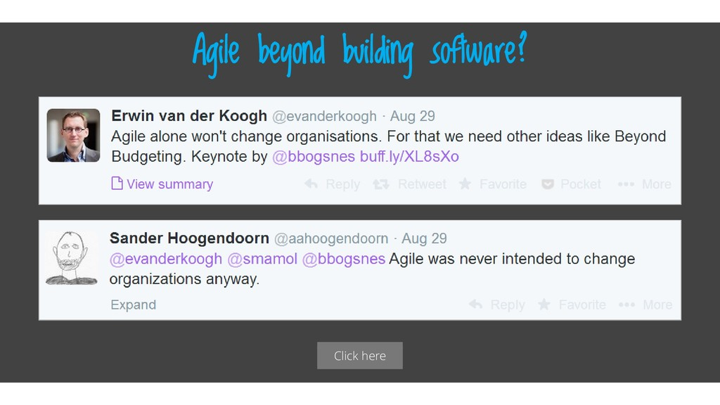 Click here Agile beyond building software?