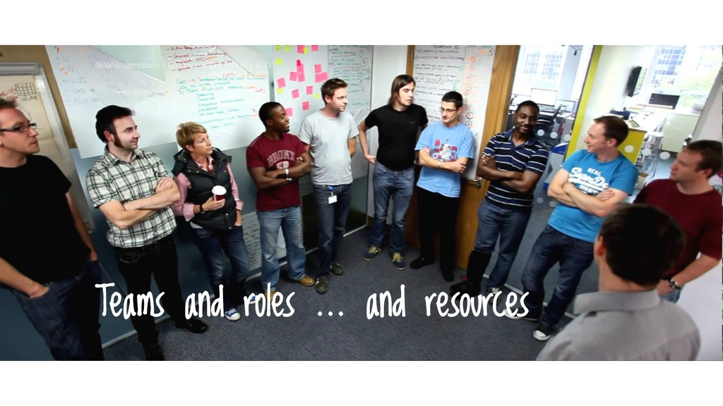 Teams and roles … and resources @aahoogendoorn ...