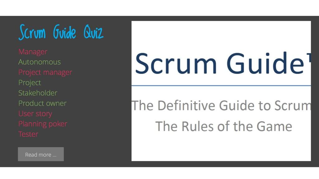 Read more … Scrum Guide Quiz Manager Autonomous...