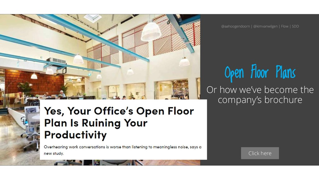 Click here Open Floor Plans Or how we've become...