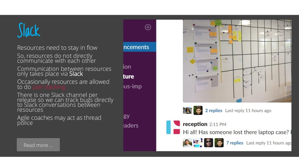 Read more … Slack Resources need to stay in flo...