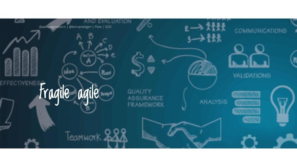 Fragile agile @aahoogendoorn | @kimvanwilgen | ...