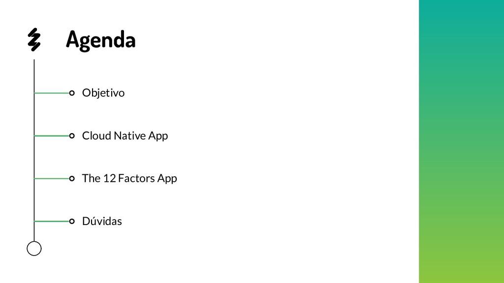Objetivo Dúvidas The 12 Factors App Cloud Nativ...