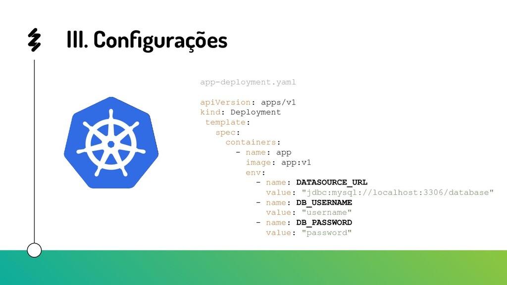 III. Configurações app-deployment.yaml apiVersio...