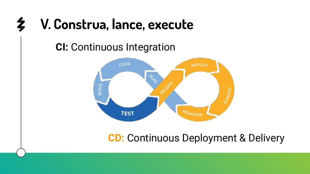V. Construa, lance, execute CI: Continuous Inte...