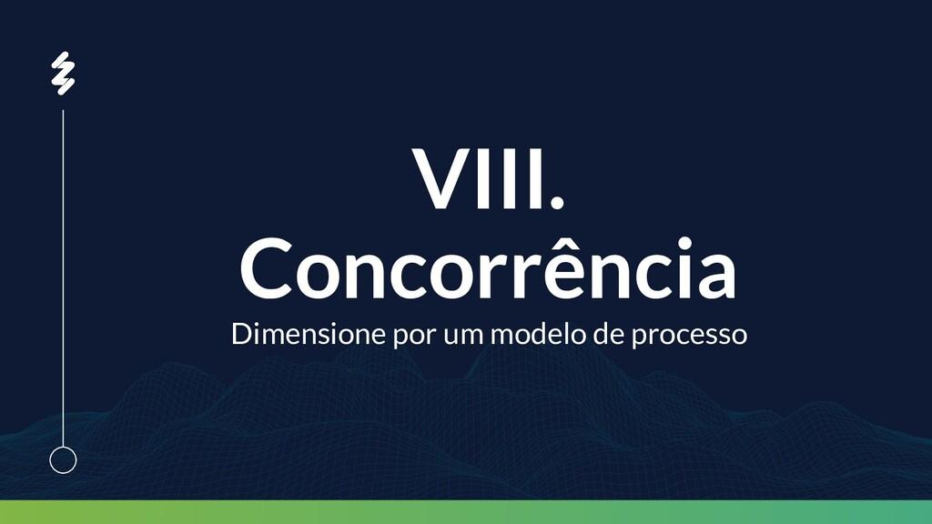 VIII. Concorrência Dimensione por um modelo de ...