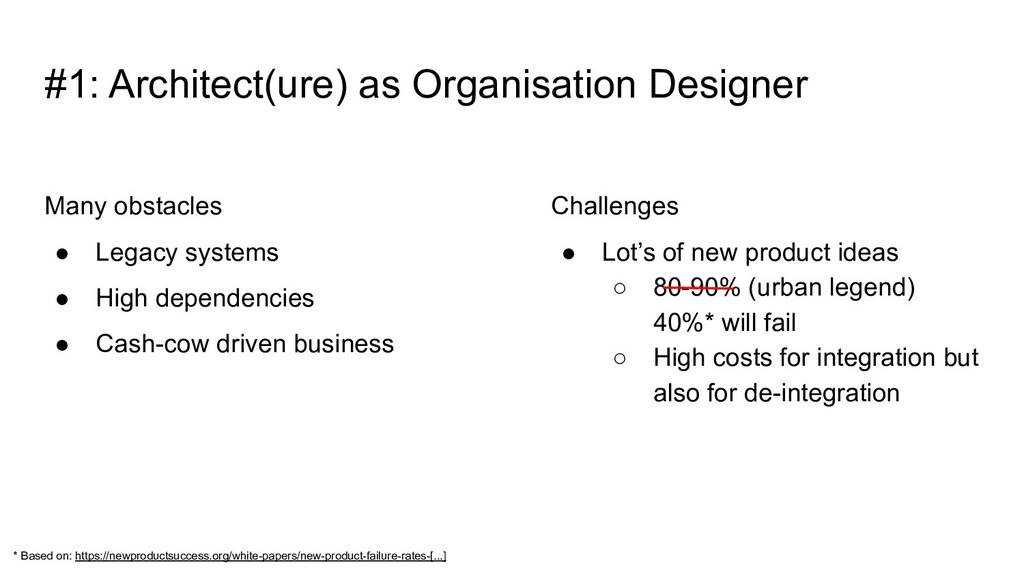 Many obstacles ● Legacy systems ● High dependen...