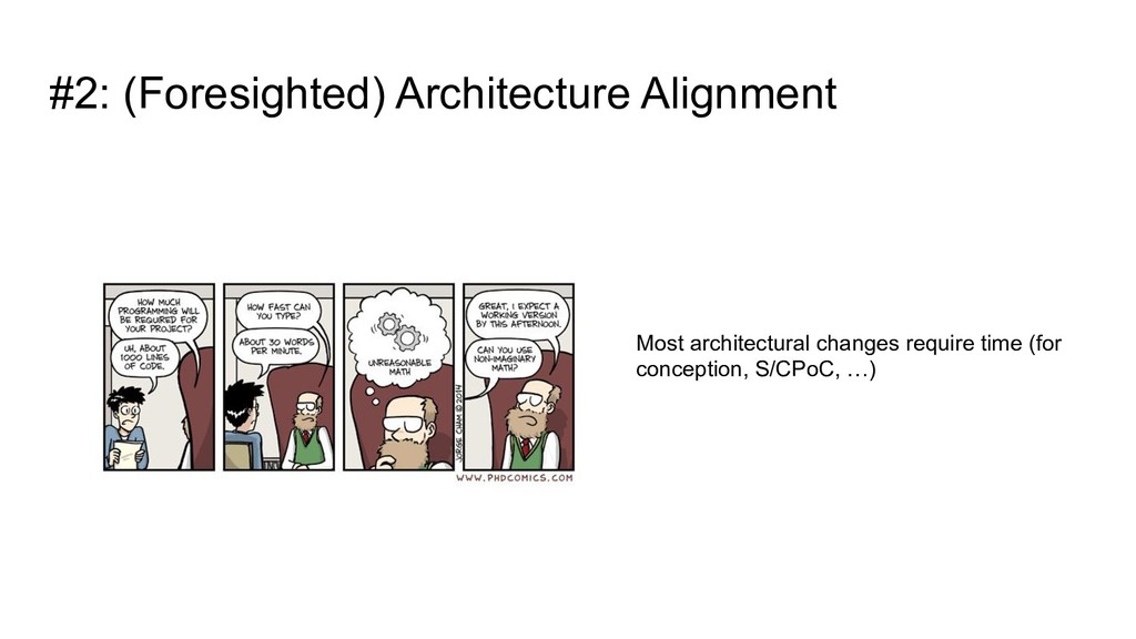 #2: (Foresighted) Architecture Alignment Most a...