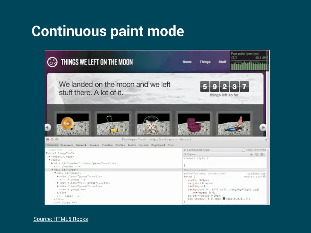 Continuous paint mode Source: HTML5 Rocks