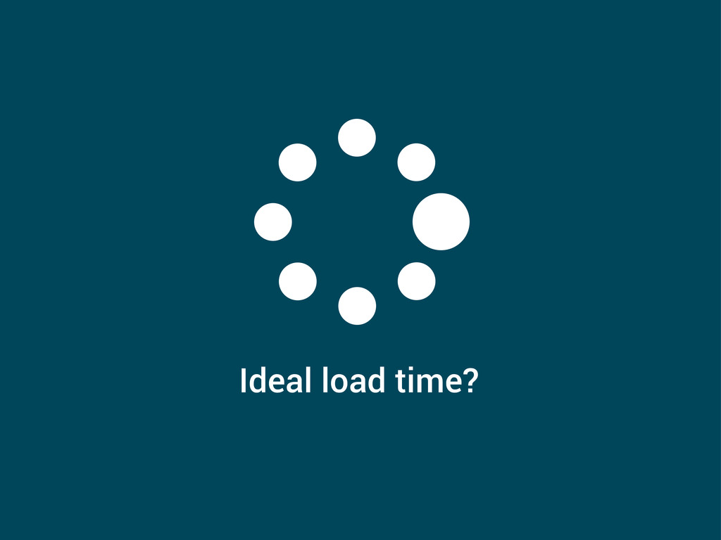 Ideal load time?