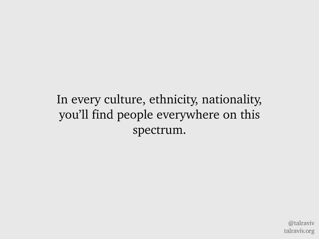 @talraviv talraviv.org In every culture, ethnic...