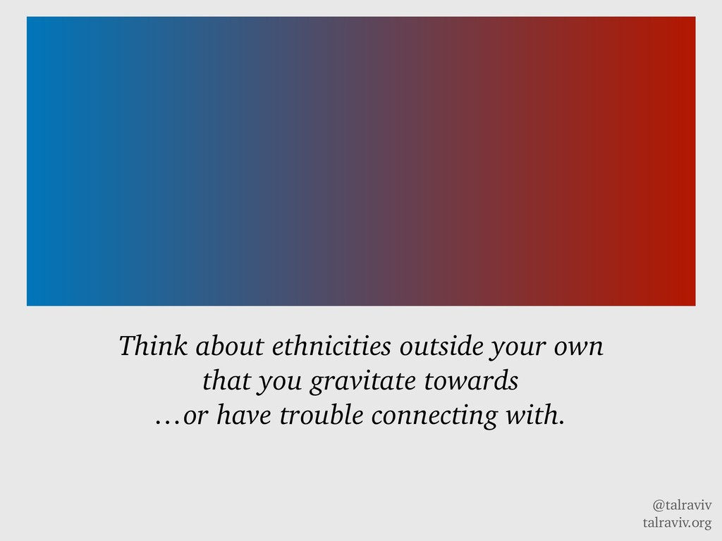 @talraviv talraviv.org Think about ethnicities ...