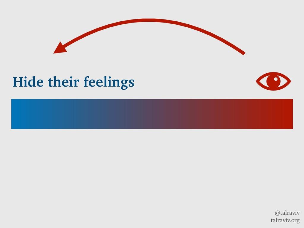@talraviv talraviv.org Hide their feelings