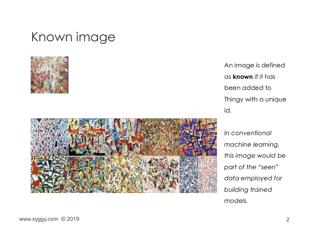 2 Known image An image is defined as known if i...