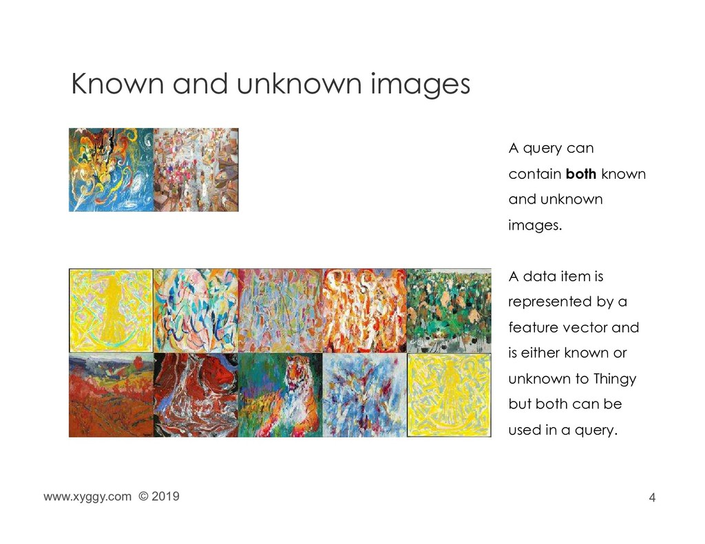 4 Known and unknown images A query can contain ...