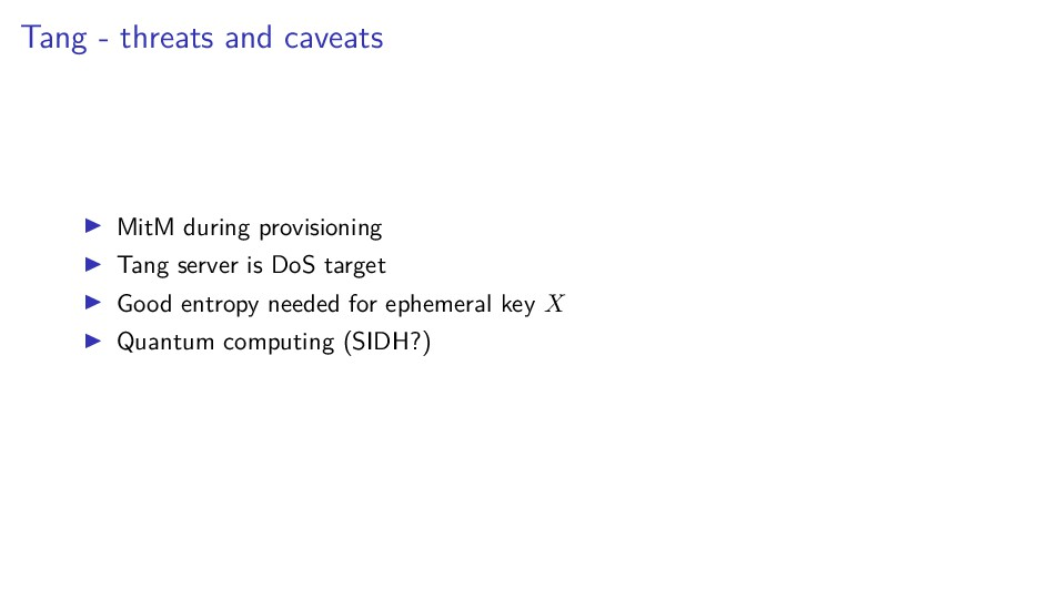 Tang - threats and caveats MitM during provisio...
