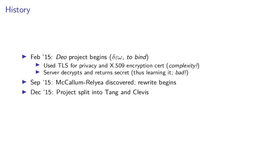 History Feb '15: Deo project begins (δεω, to bi...
