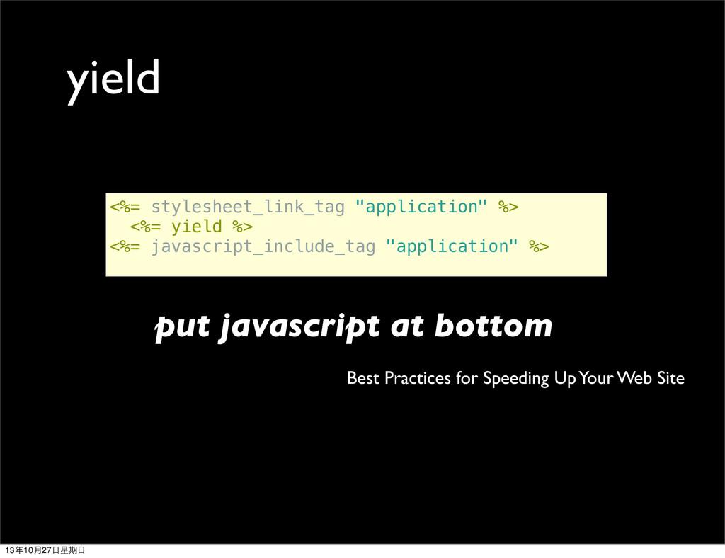 "<%= stylesheet_link_tag ""application"" %> <%= yi..."
