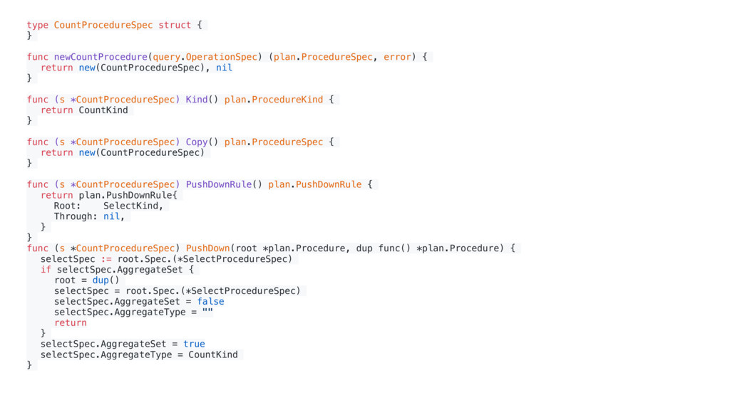 type CountProcedureSpec struct { } func newCoun...