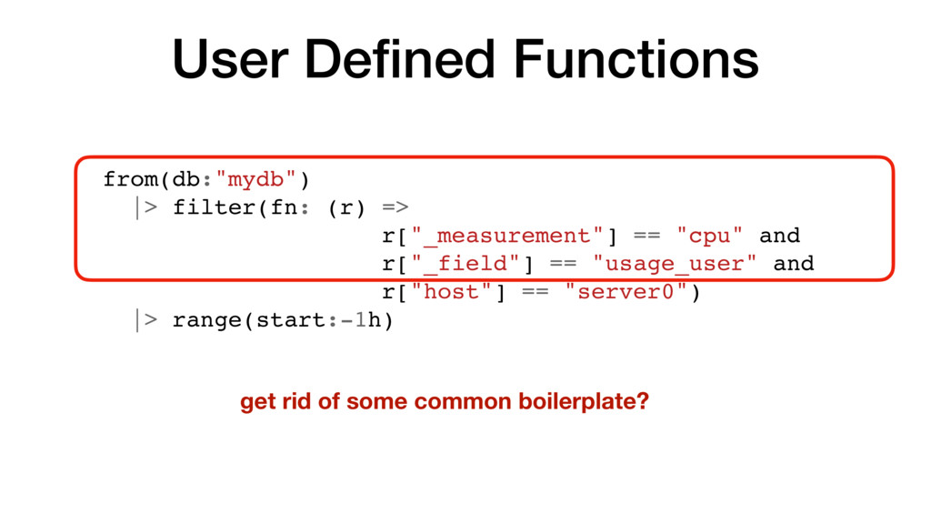 """User Defined Functions from(db:""""mydb"""") 
