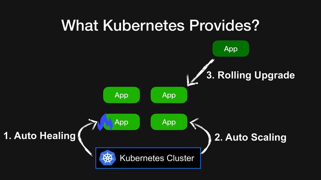 What Kubernetes Provides? Kubernetes Cluster Ap...