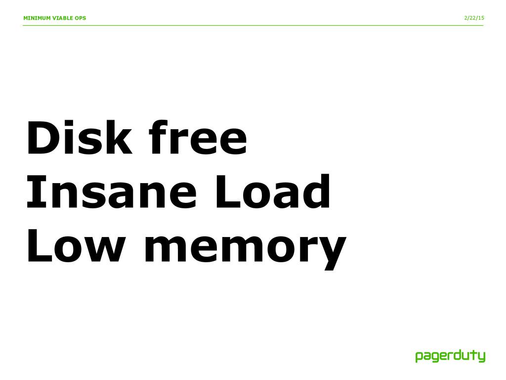 2/22/15 MINIMUM VIABLE OPS Disk free Insane Loa...
