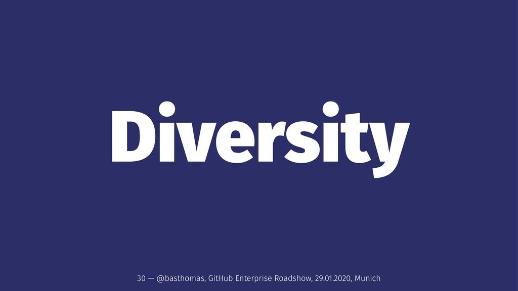 Diversity 30 — @basthomas, GitHub Enterprise Ro...