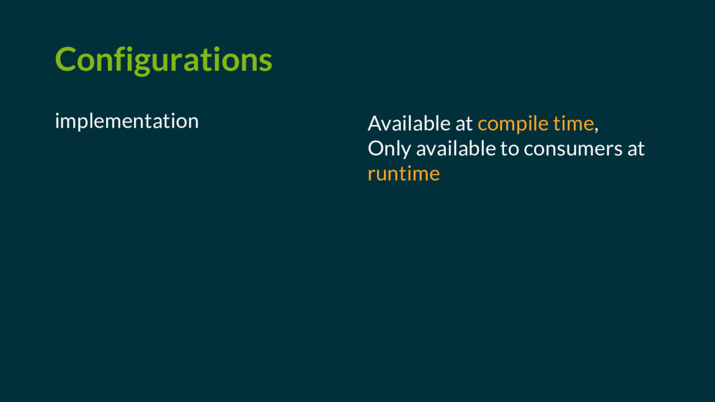 Configurations implementation Available at comp...