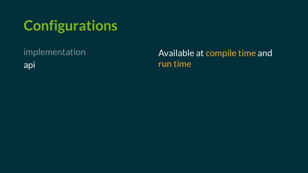 Configurations implementation api Available at ...