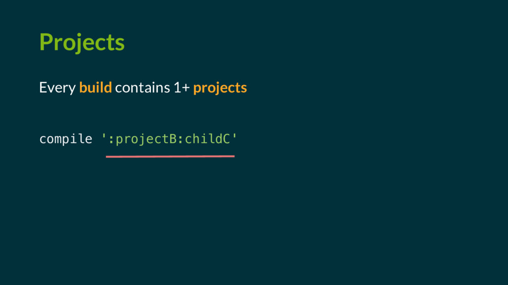 Projects Every build contains 1+ projects compi...